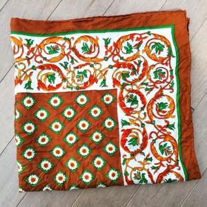 Vintage silk square scarf